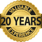 Valuable 20 years of experience